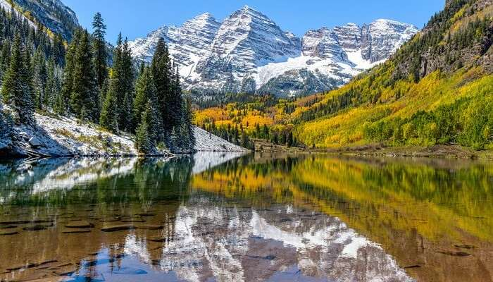 beautiful maroon lake in aspen