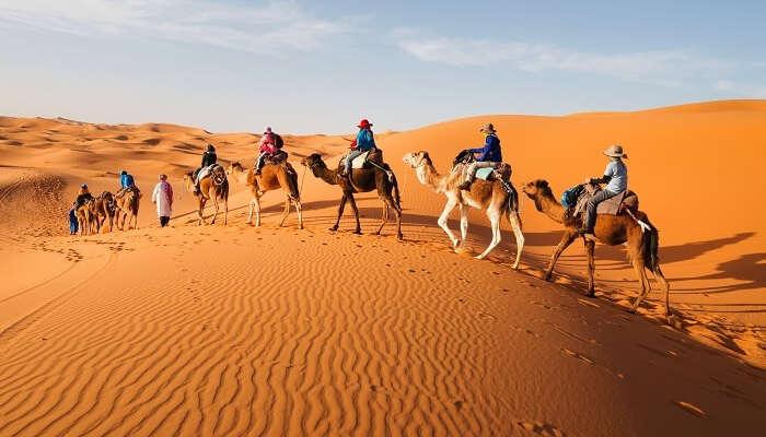 équitation dans le désert maroc