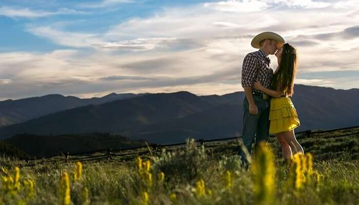 couple in Jackson hole wyoming