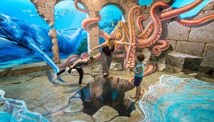 gorgeous 3d paintings in a museum in Langkawi