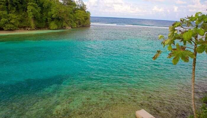 Turquoise water of Port Antonio