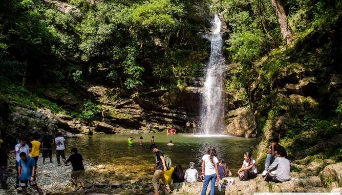 Beautiful Bhalu Ghat waterfall near Mukteshwar