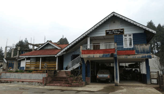a slanted roof homestay in north east
