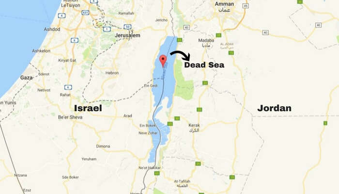 Dead Sea In Jordan Is A Traveler's Paradise In The Middle-East Dead Sea On Map on