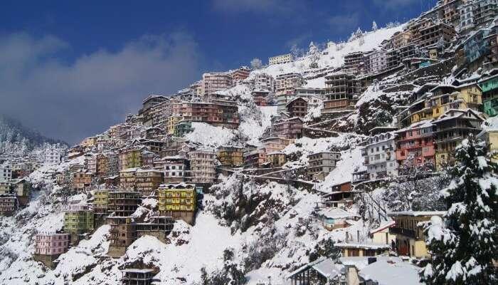 Shimla during snowfall