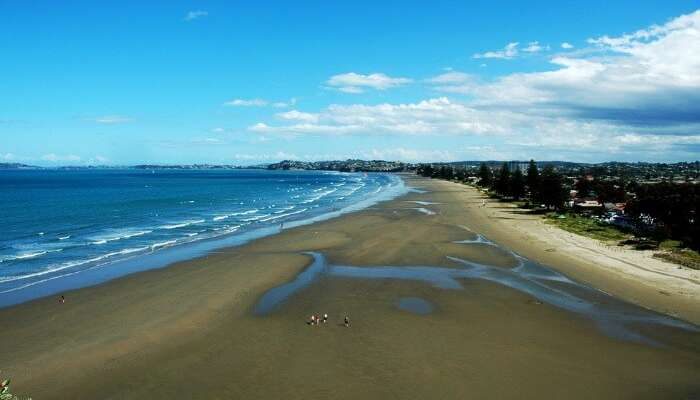 The magnificent beach view at Orewa in Auckland