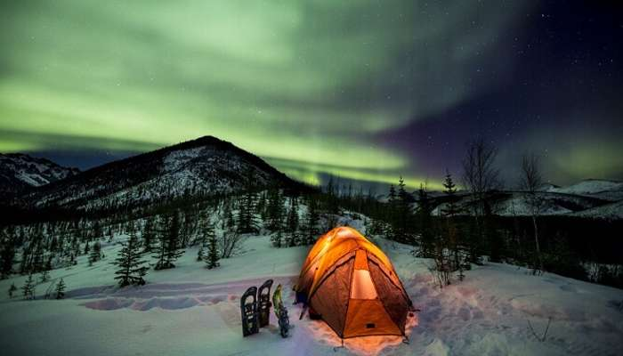 Nordlichter am Dempster Highway Yukon