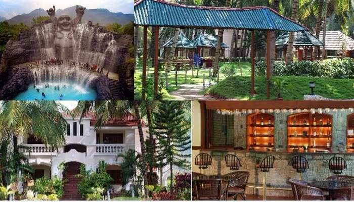 A collage of the various scenes at the Black Thunder Resort in Coimbatore