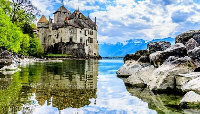 Chateau de Chillon near Montreux in Switzerland