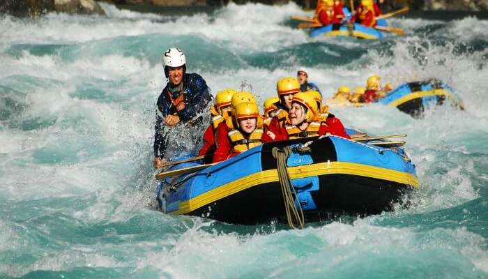 Rafters enjoying river rafting in Kali Gandaki in Nepal