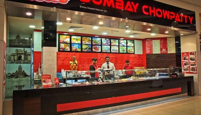 One of the outlets of Bombay Chowpatty