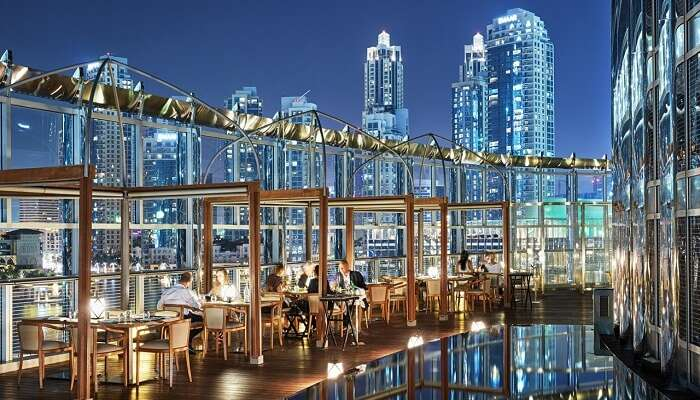 View from Armani Amal Restaurant in Dubai