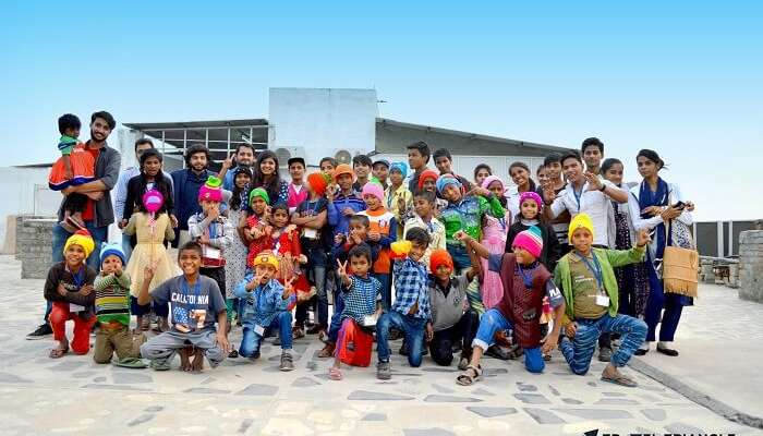 group picture of bucketeers on children's day