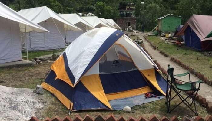 Beautifully laid out tents of Tentsville in Manali
