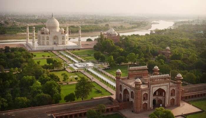 Taj Mahal top view