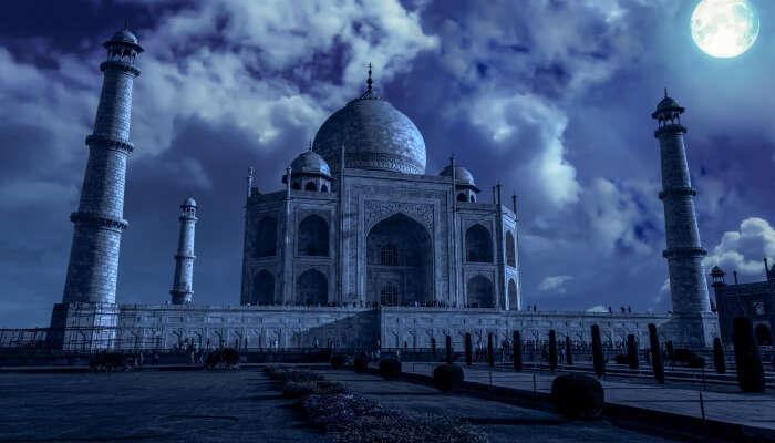 Taj Mahal during full moon