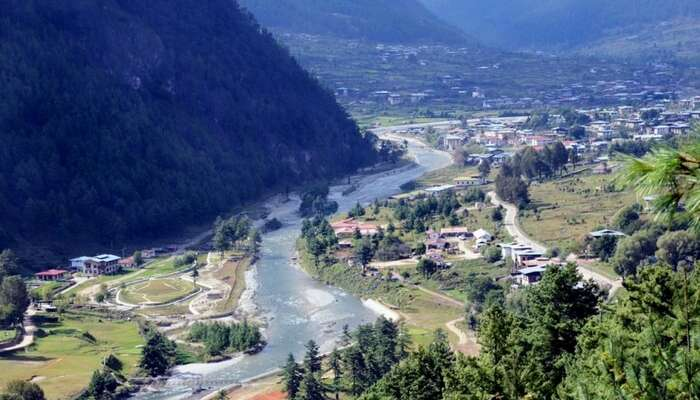 An aerial view of Haa Valley
