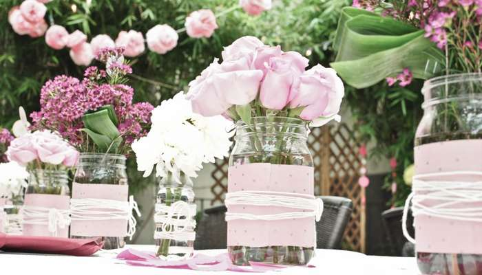 pink rose decoration - Valentine's Day Traditions