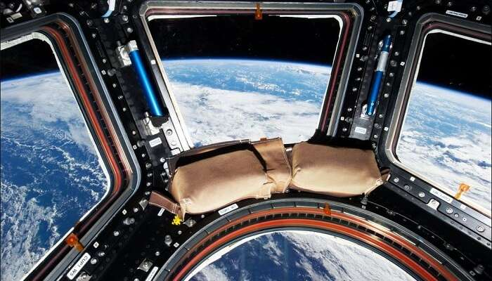 Interiors of a luxury hotel in space