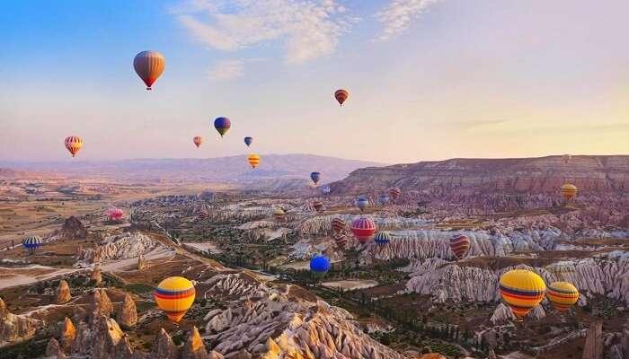 Отправьтесь на воздушном шаре в Каппадокию, Турция