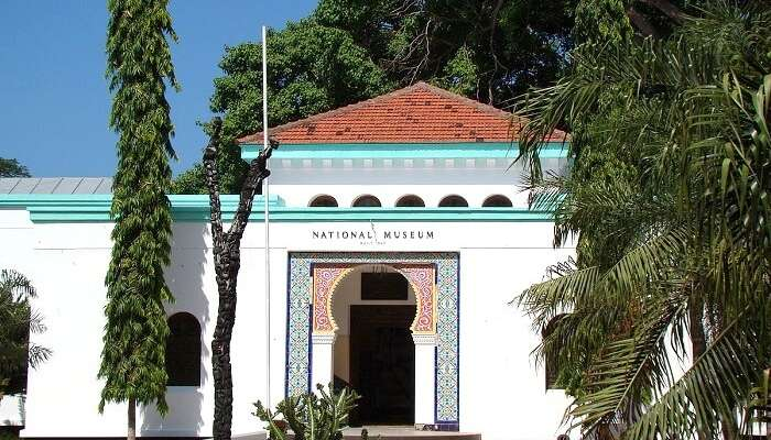 front of National Museum of tanzania