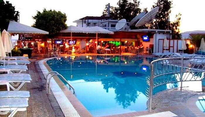Oasis Pool Bar in Rhodes Greece