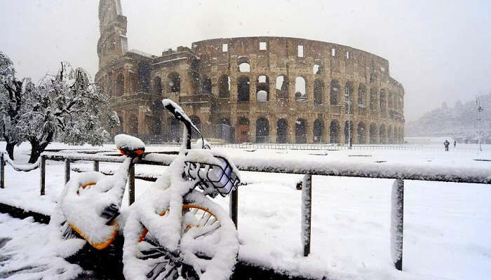 rome colosseum bike