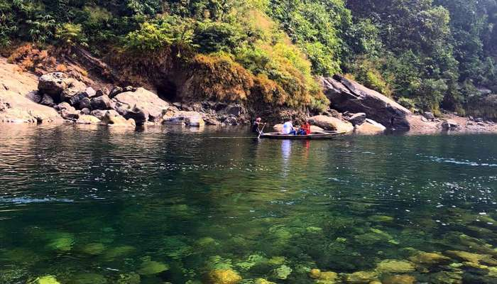 Beautiful clear water dwaki , India Bangladesh border
