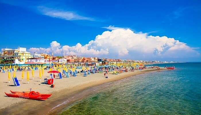 ostia beach in rome
