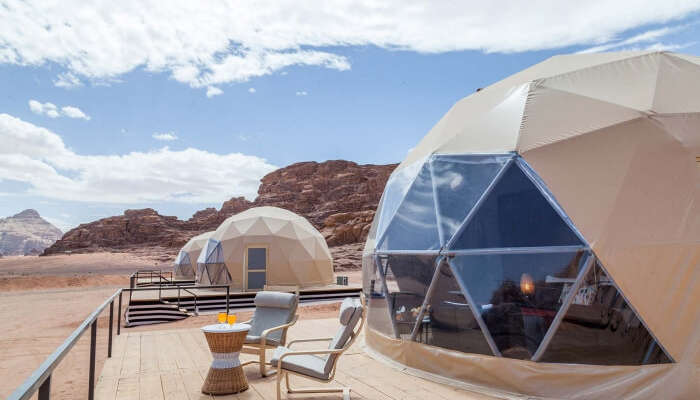 Martian domes in Wadi Rum