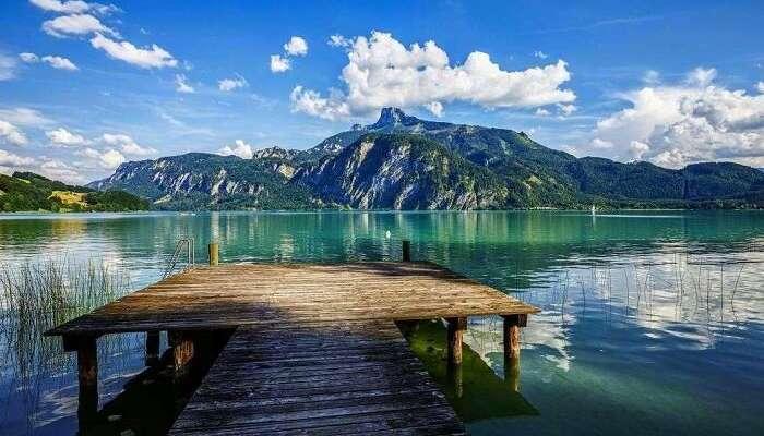 Mondsee lake austria