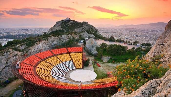 Watch a movie under the stars in Athens