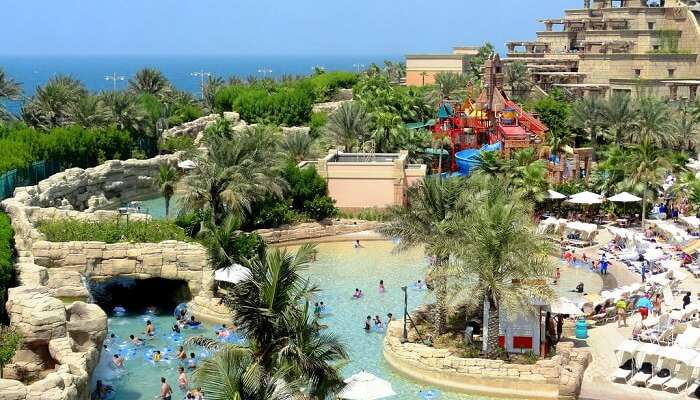 water park at the palm