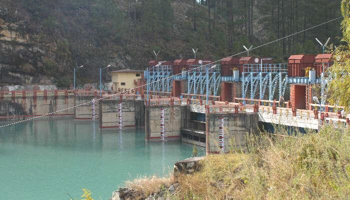 sightseeing of maneri dam