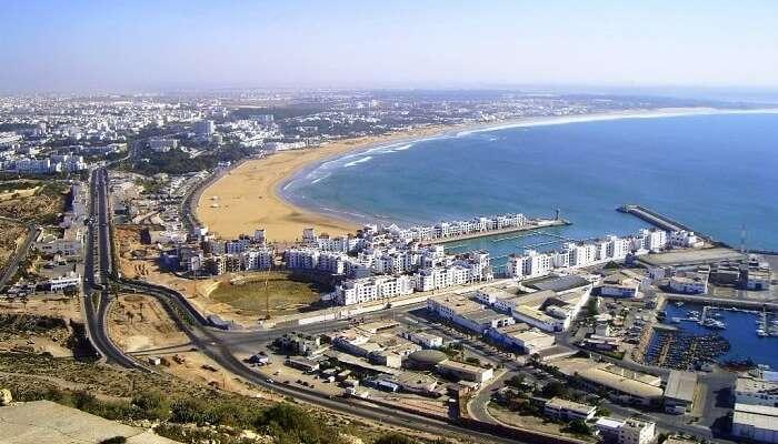 Plage d'Agadir au Maroc