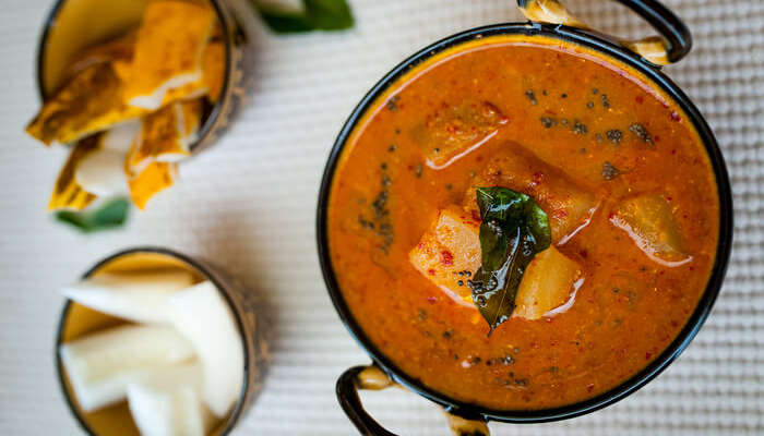 Ash gourd curry with coconut