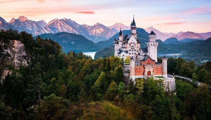 A beautiful view of Neuschwanstein Castle