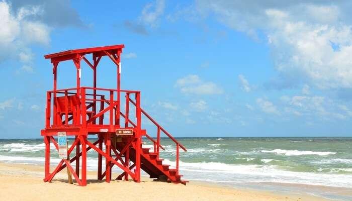 life guard at the beach
