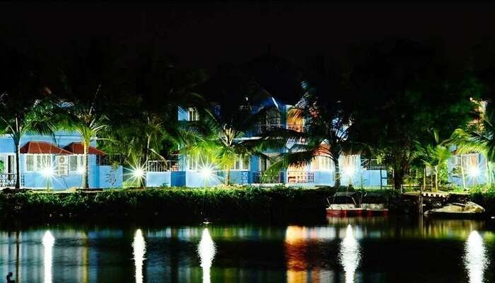 Kairali Heritage Resort at night