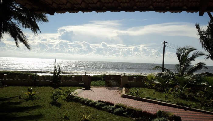 an incredible view of the ocean from Club 7 Beach Resort