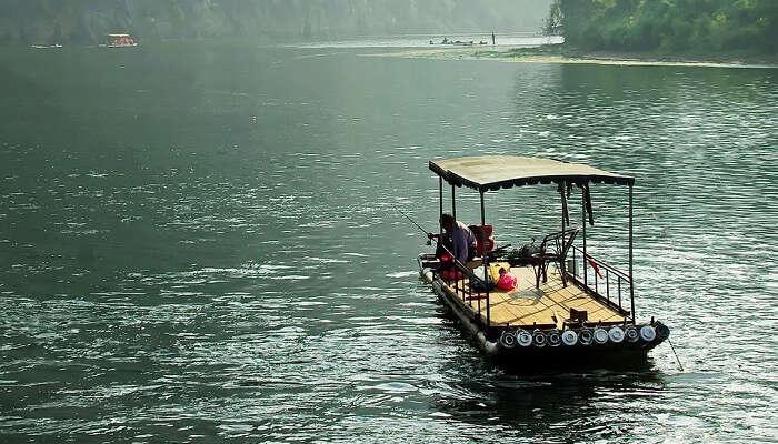 Boating at River Li