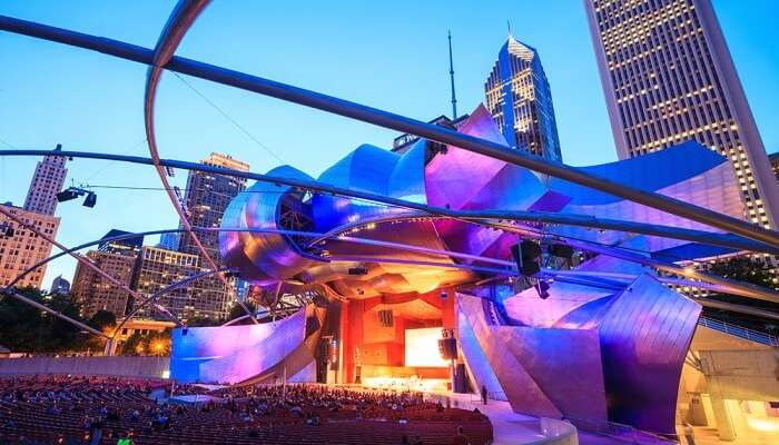 check out public art and concerts at Millennium Park