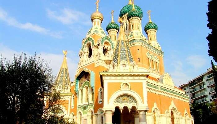 Russian church Nice France