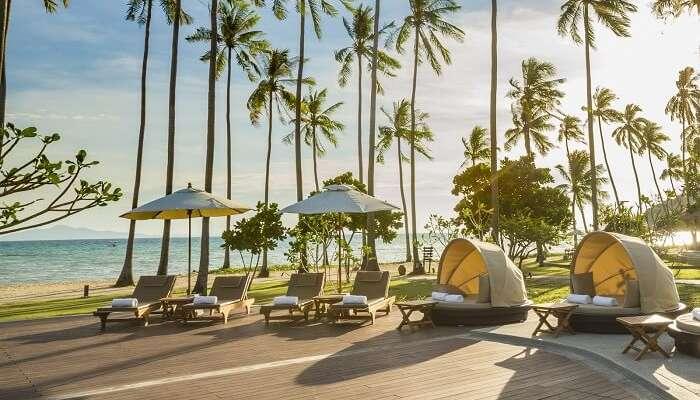 phi phi island beach resort Infinity Pool Sun deck