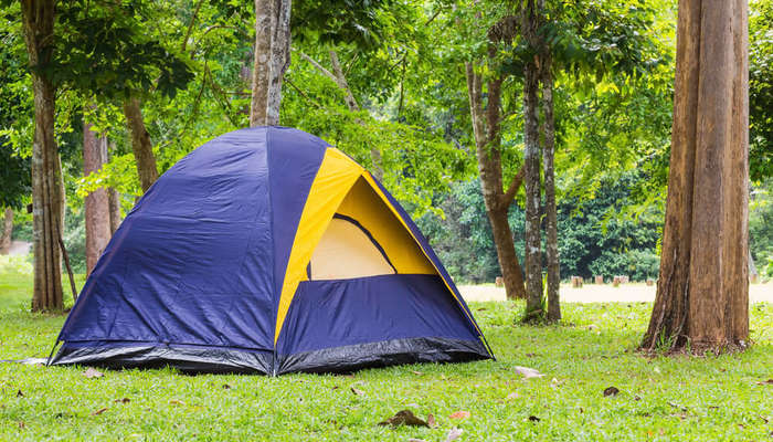expansive camping ground