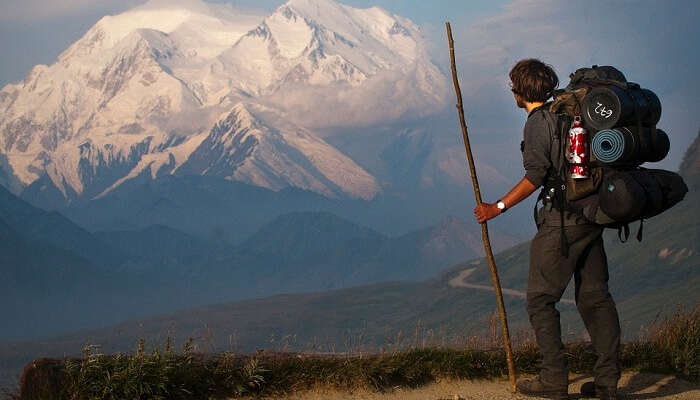 Hiking at Mount Mckinley
