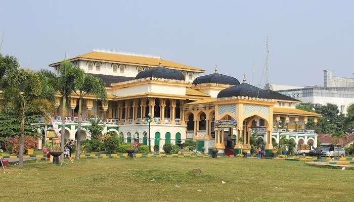 Meda city in Sumatra