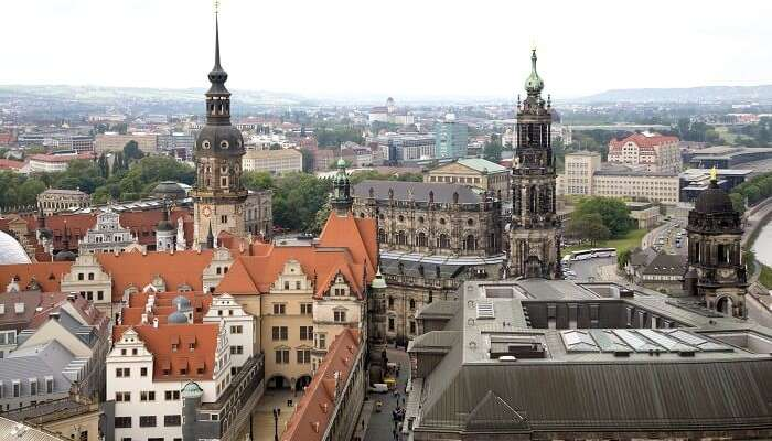 sky view of dresden