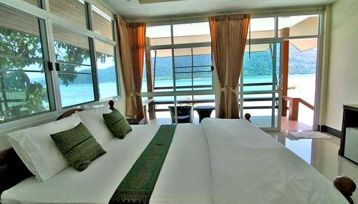 room view overlooking sea