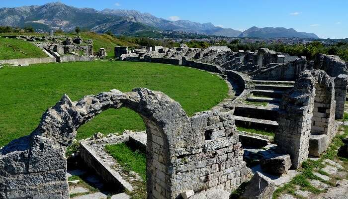 the archaeological park of the past history